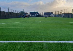 An image of a football pitch we constructed