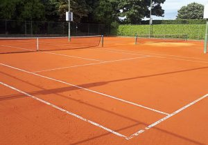 An image of a tennis pitch we created with match clay