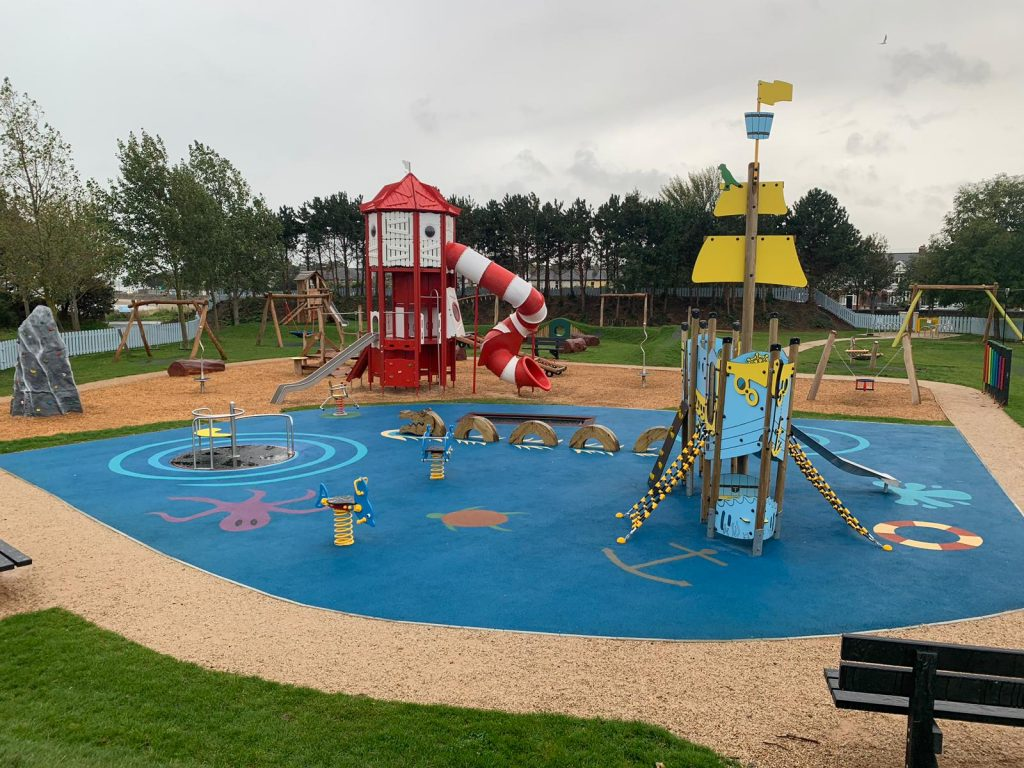 Childrens colourful play park