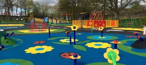 Colourful childrens play park